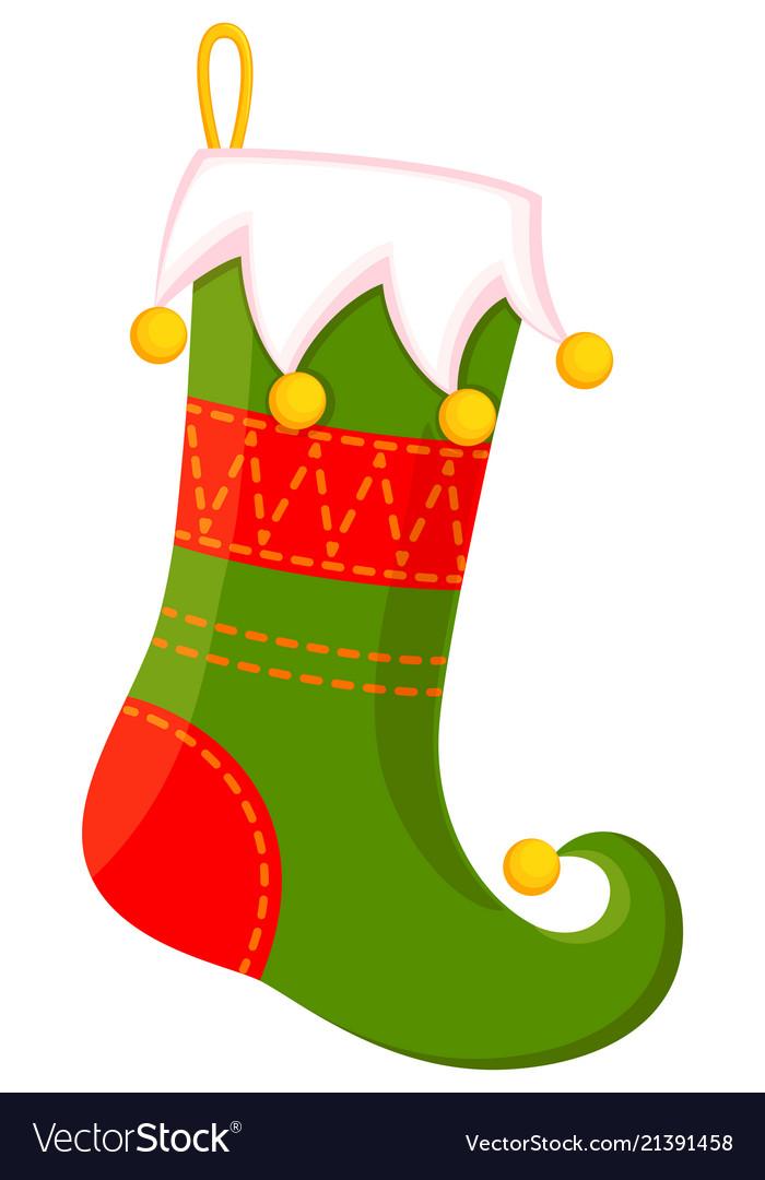 Colorful cartoon cute christmas stocking.