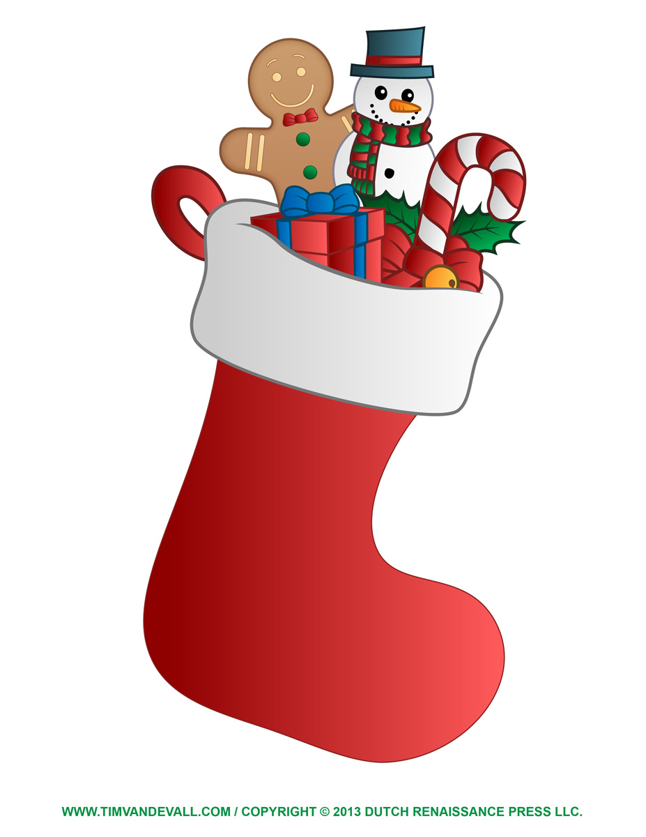 Free Christmas Stocking Template, Clip Art & Decorations.