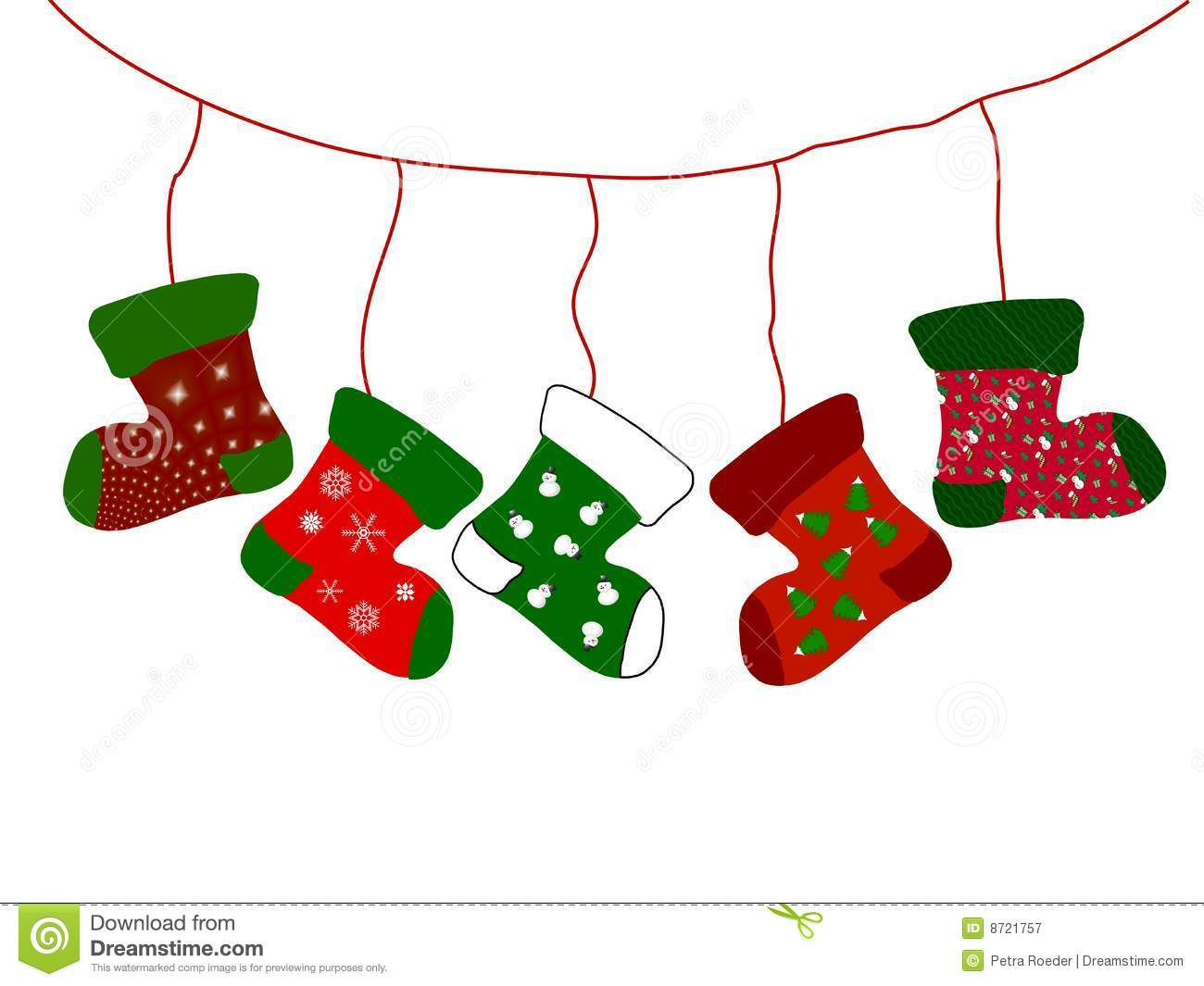 Royalty free christmas stocking clipart.
