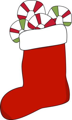 Printable Christmas Stocking Clipart.