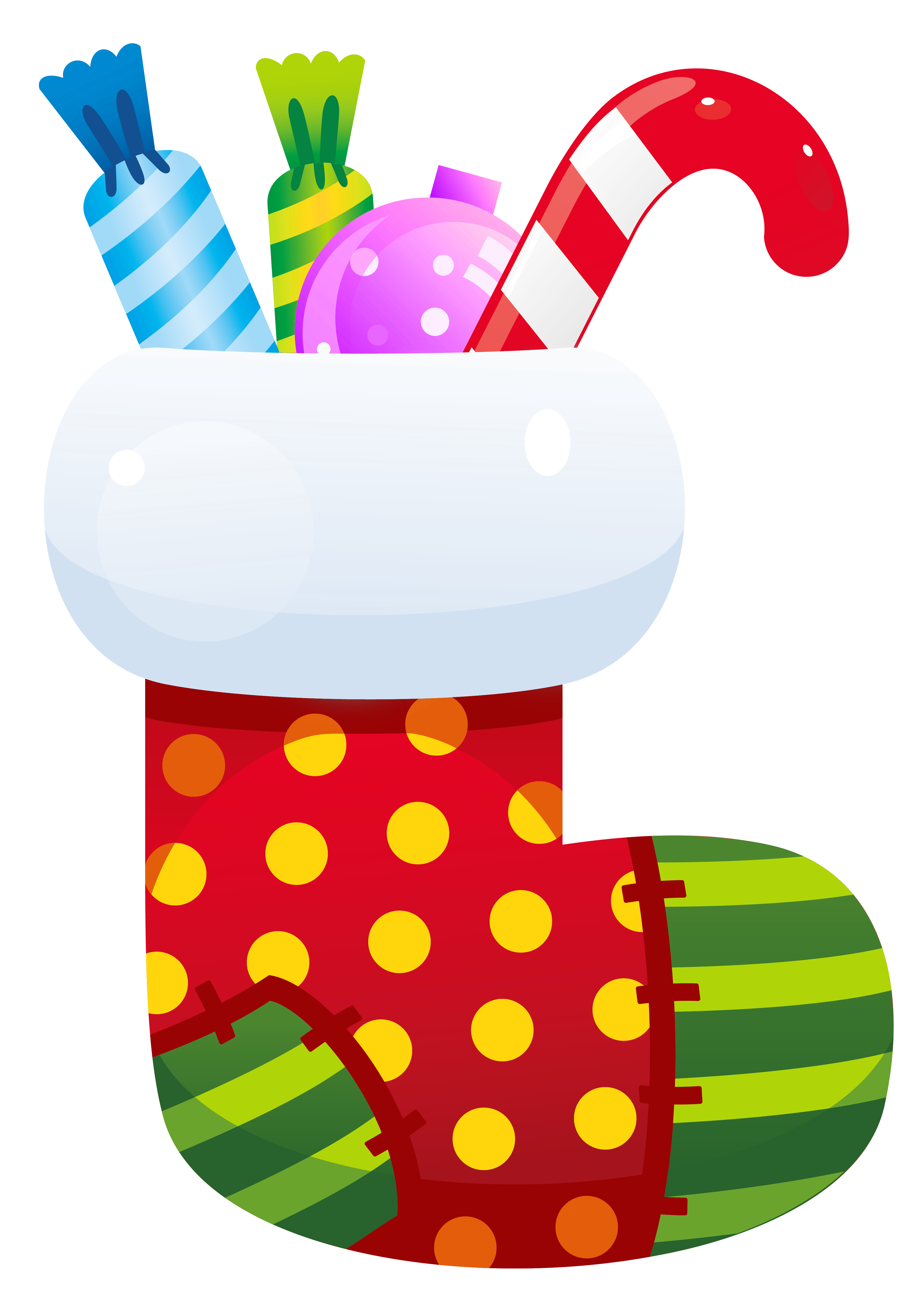 Christmas Stocking Transparent PNG Clipart.