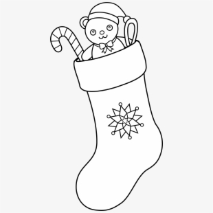Country Clipart Christmas Stocking.