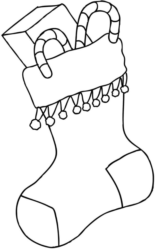 Christmas Stocking Coloring Pages.
