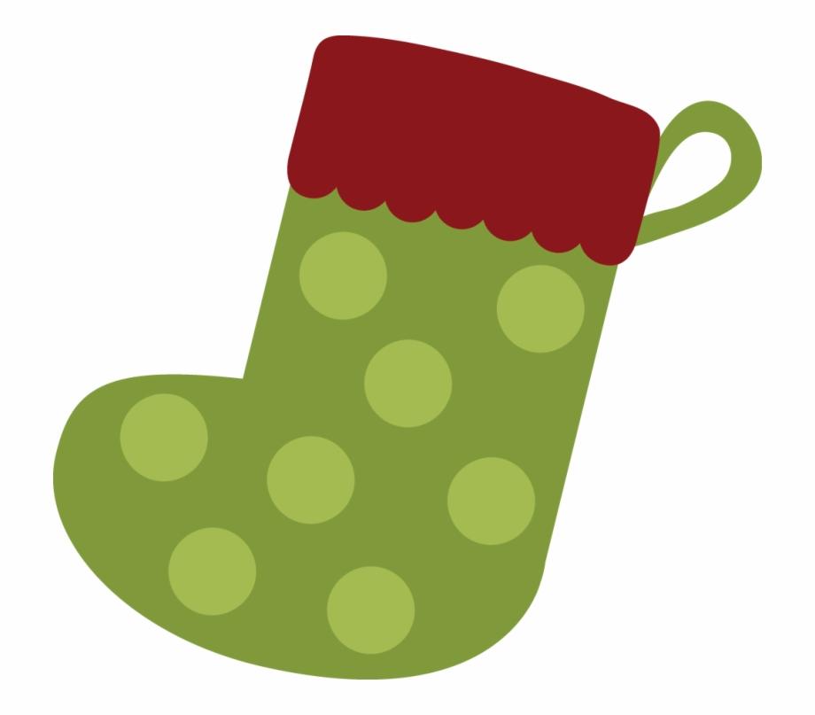 Cute Tall Christmas Socks Clipart.