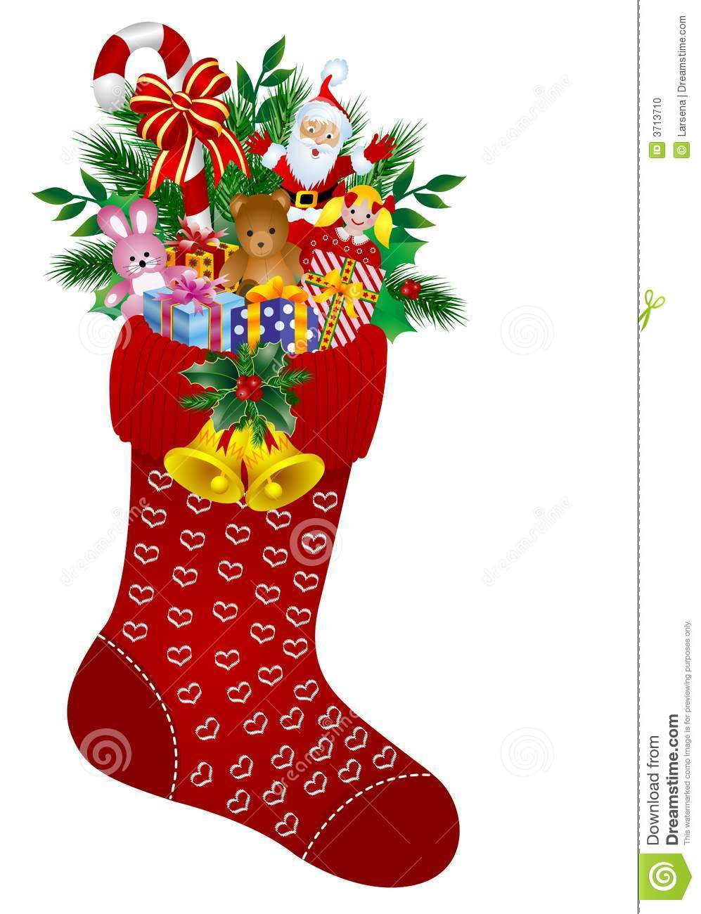 Christmas stockings stock vector. Illustration of pink.