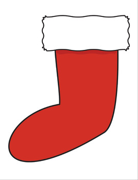 Holiday Stocking Printable Graphics & Clip Art by ThatLittleDollarStore.