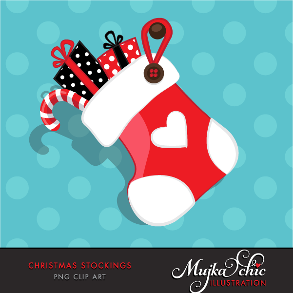 Free Christmas Stockings Clipart.