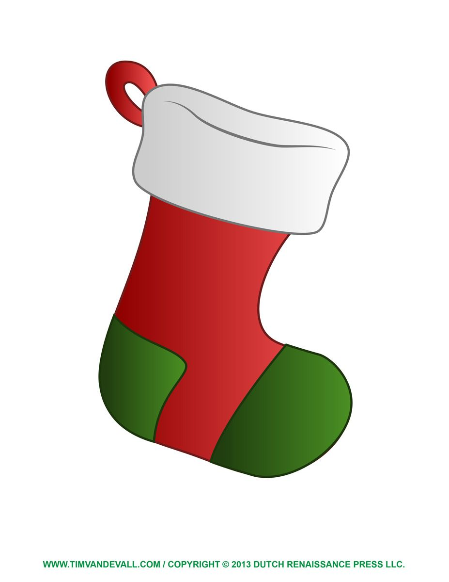 Hanging Christmas Stockings Clipart.