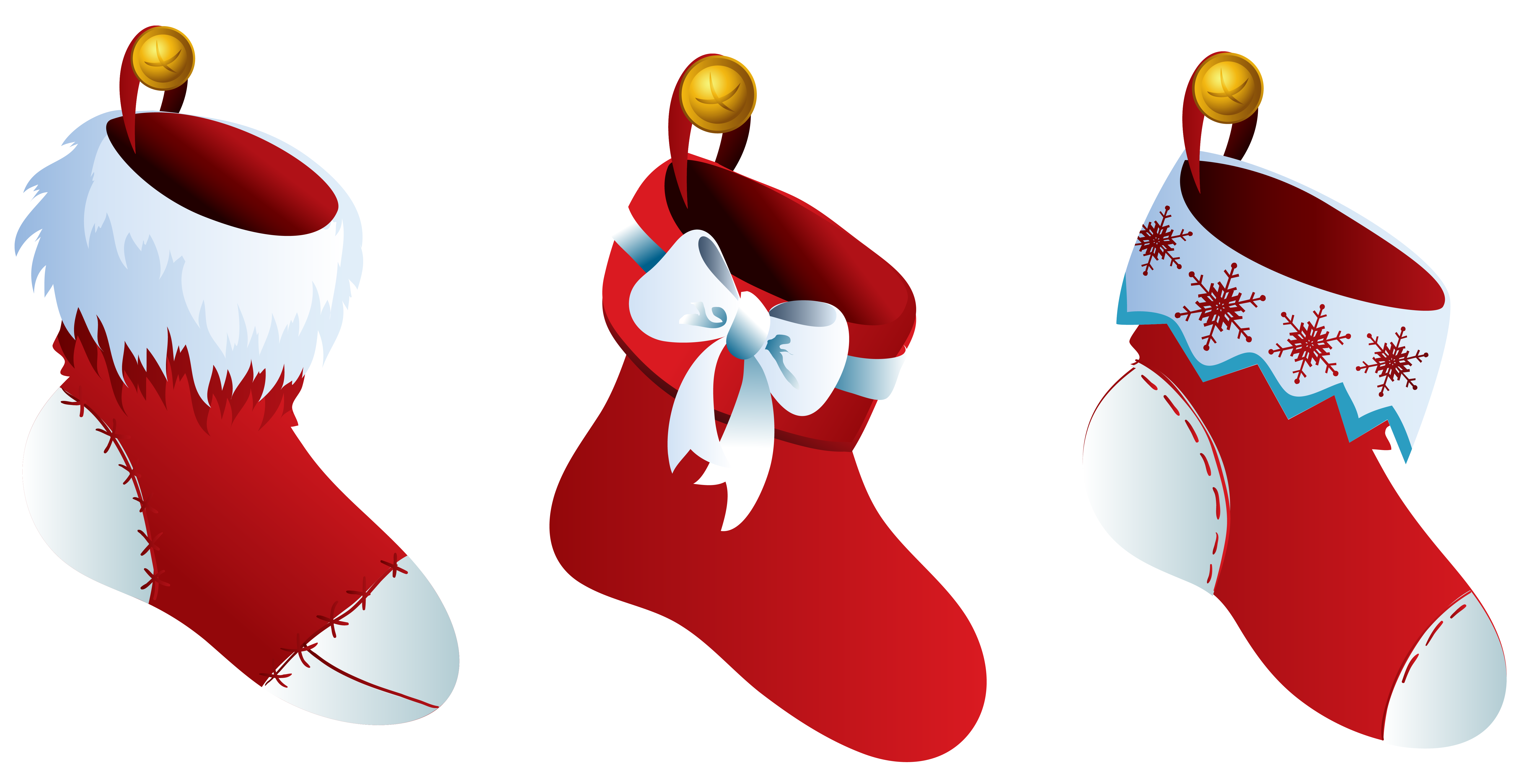 Picture transparent library christmas stockings png files, Free CLip.