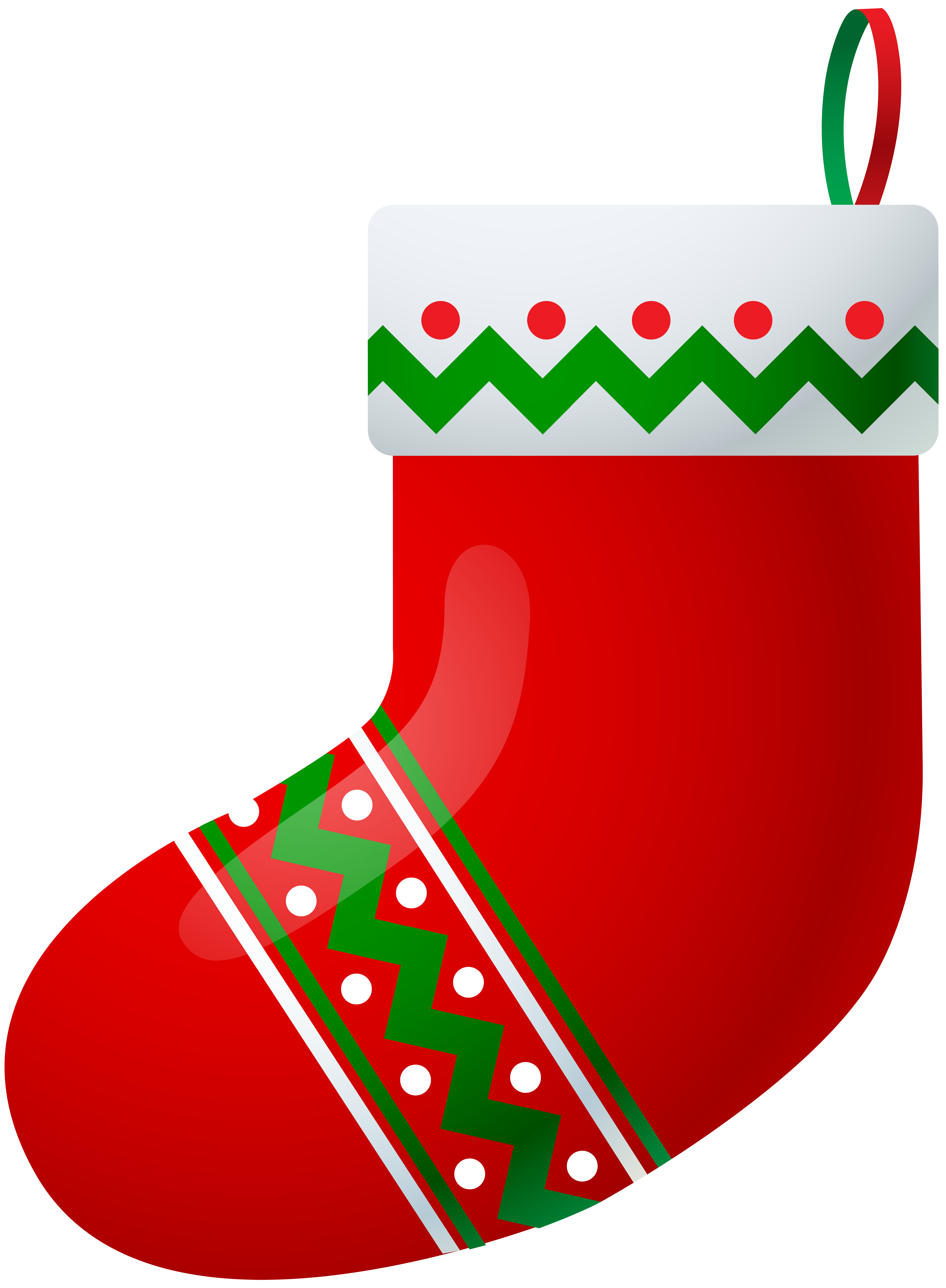 Christmas Stocking PNG Clip Art Image.