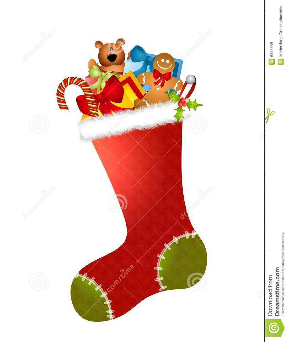 Stocking Full Of Toys Royalty Free Stock Images.