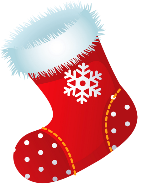 Xmas Stocking PNG Picture Clipart.