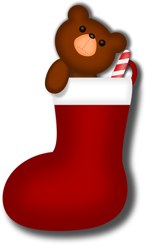 Free Clipart Christmas Stocking.