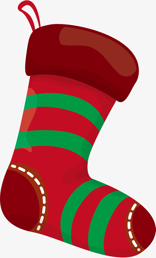Christmas Red Socks, Christmas Stockings, Watercolor, Simple Socks.
