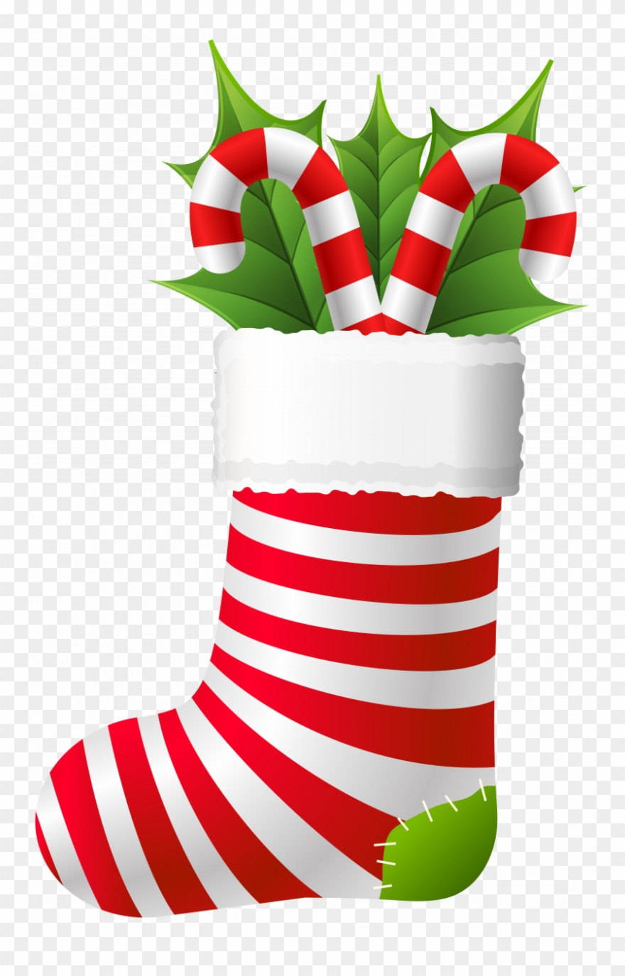 Library Christmas Stocking Clipart Images.