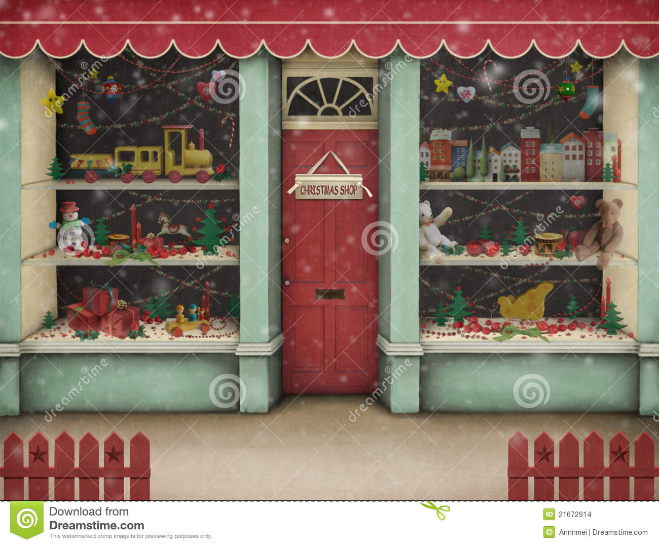 Christmas Shop. Stock Images.