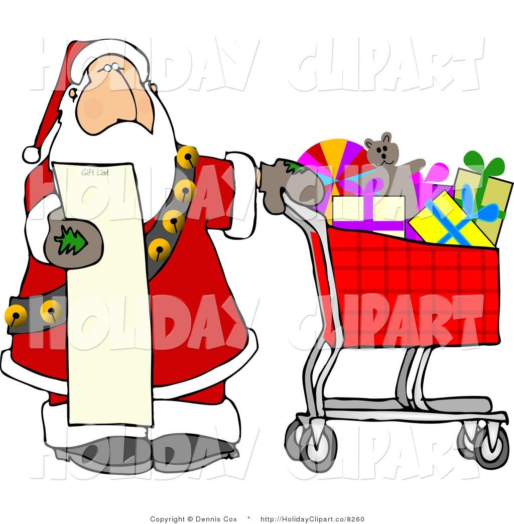 Christmas Shopping Clipart.