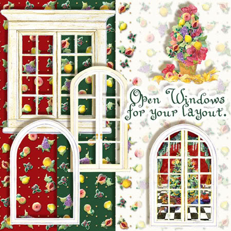 """More Previews for """"Windows on Christmas"""" Digital Clip Art Kit by."""