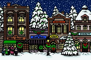 Christmas Open House Clipart.