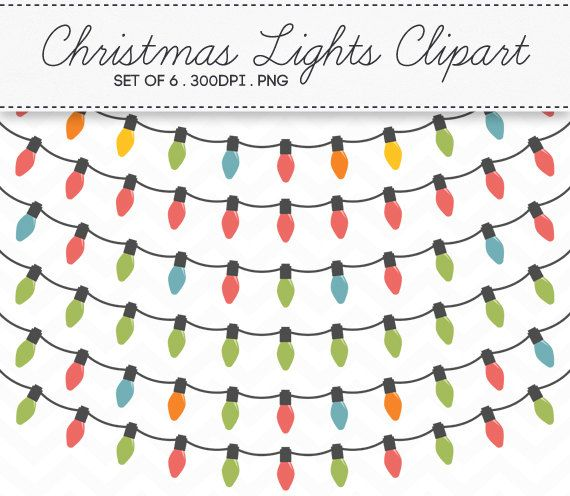Christmas string lights clipart clipground