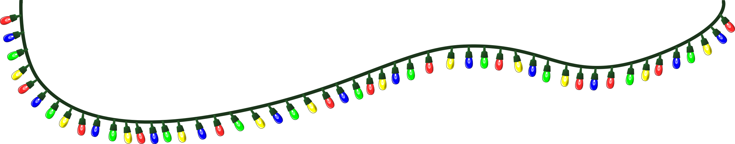 christmas string lights clipart - Clipground