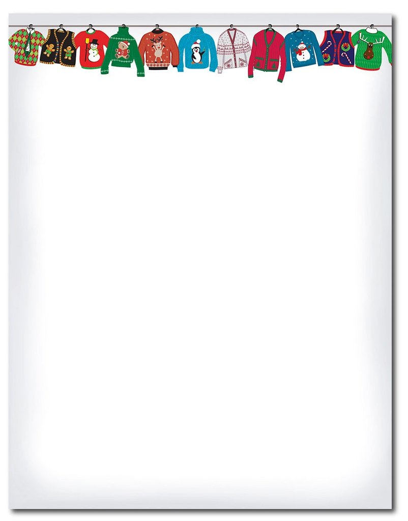Border Ugly Christmas Sweater Clipart.