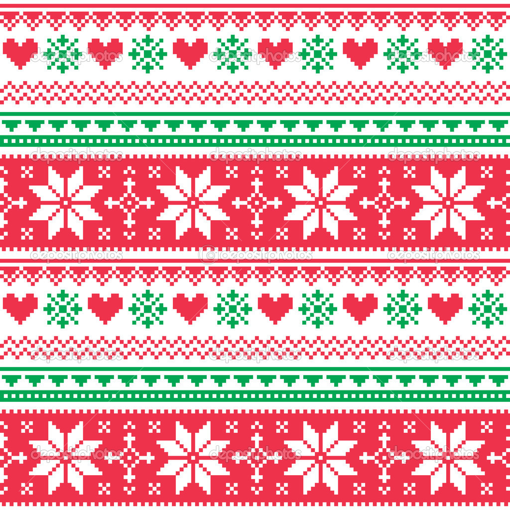Christmas sweater pattern clip art.