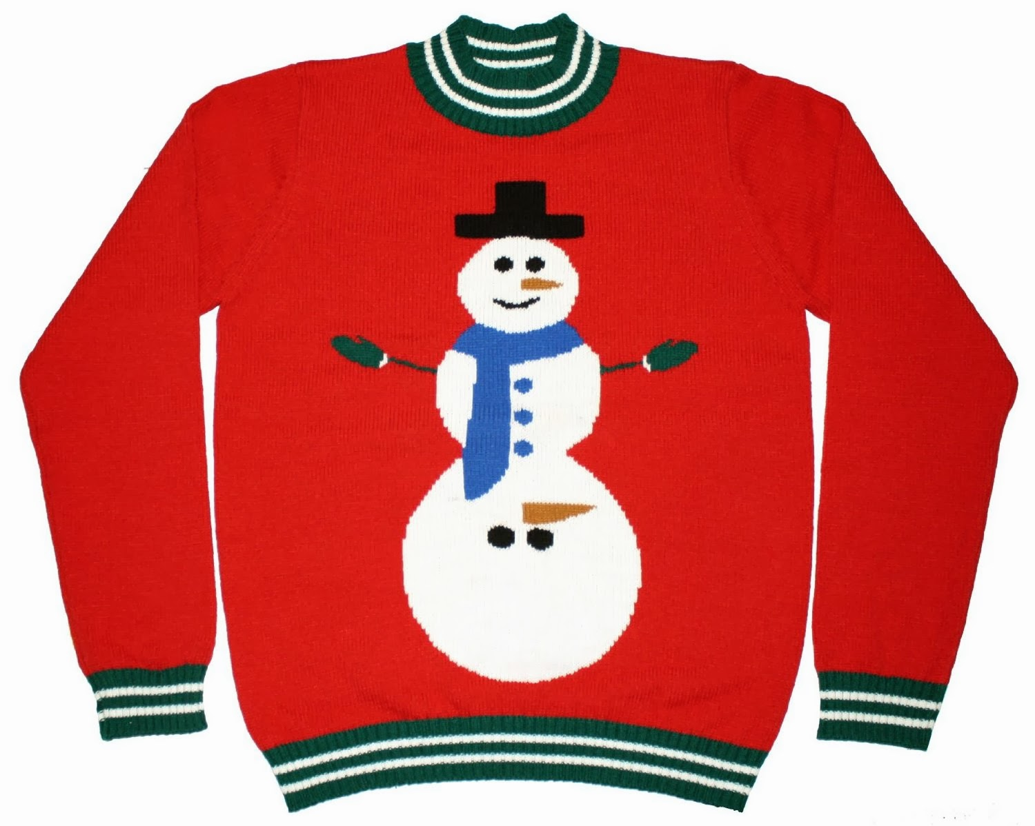 Snowman Ugly Christmas Sweater Clip Art.