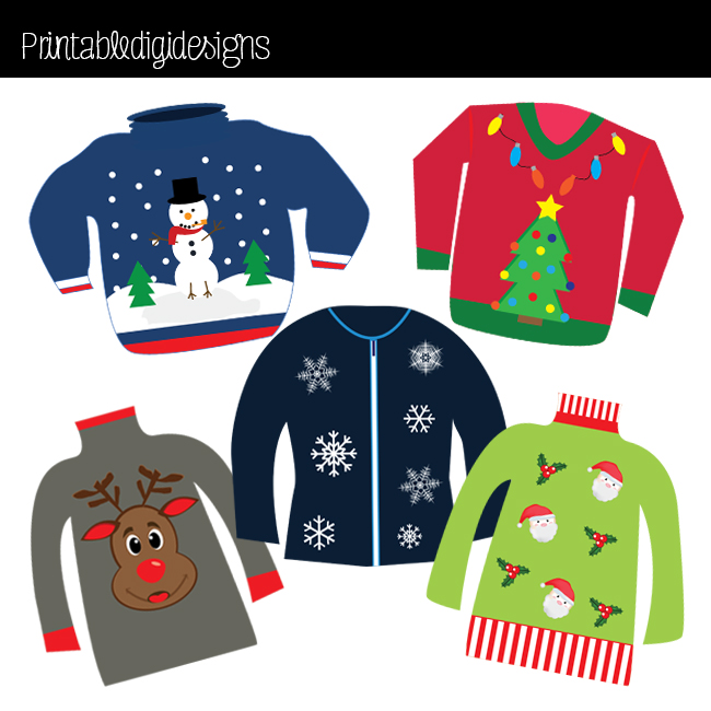 Ugly Christmas Sweater Clipart & Ugly Christmas Sweater Clip Art.