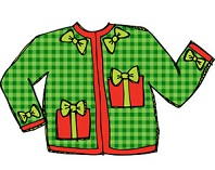 Free Christmas Sweater Clipart.