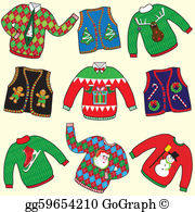 Christmas Sweater Clip Art.