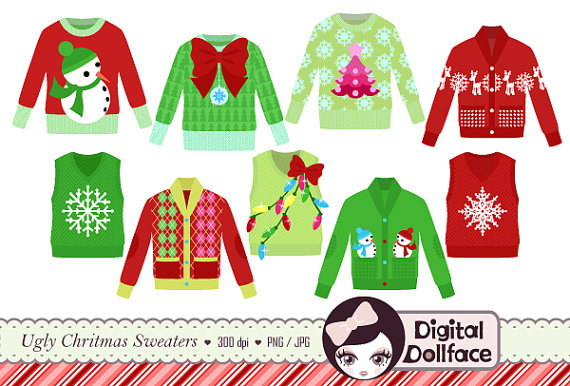 Ugly Sweater Clip Art.