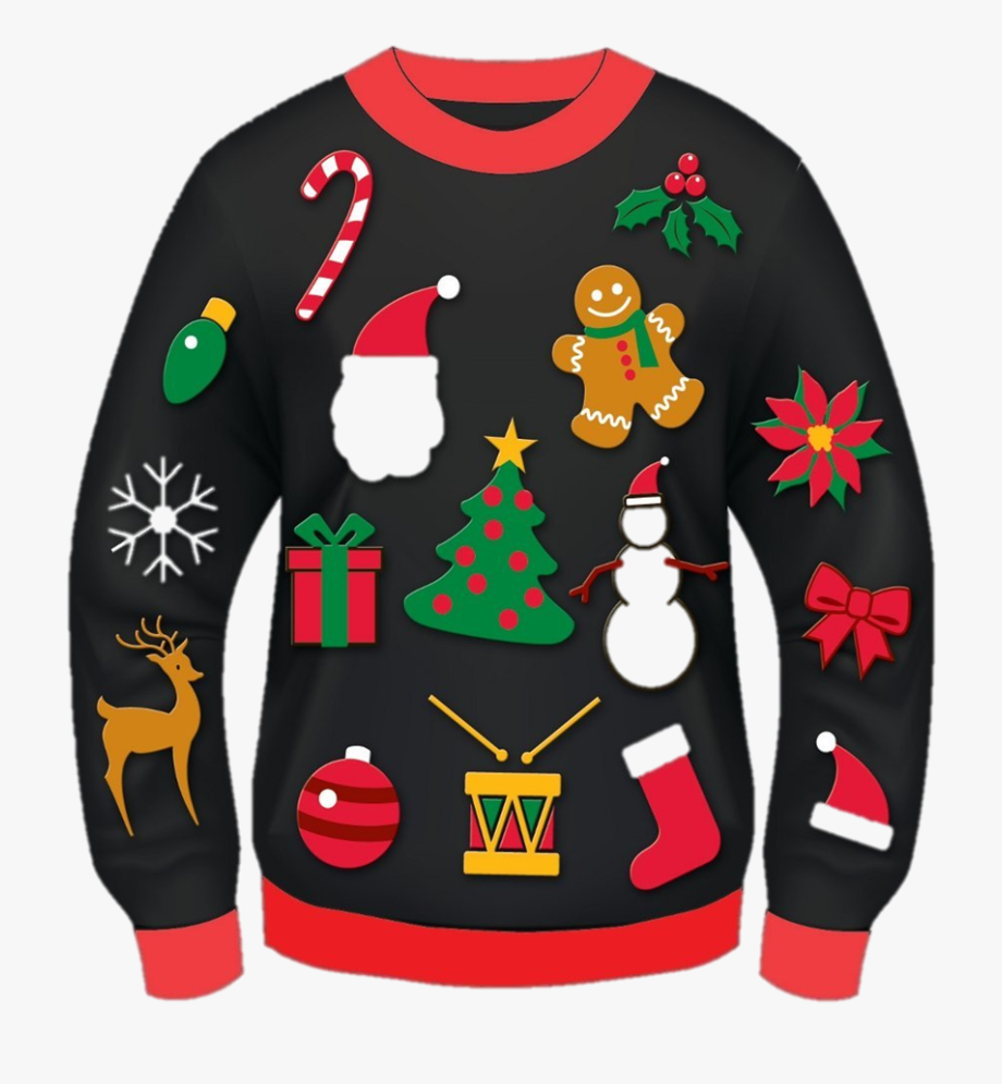 Ugly Sweater Clipart Transparent Background.