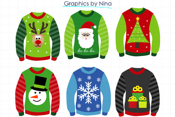 INSTANT DOWLOAD Christmas Ugly Sweater by Ninasdesignstudio.
