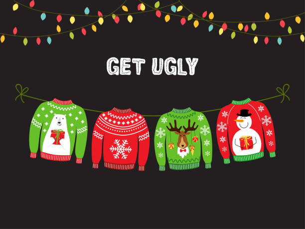 Best Ugly Christmas Sweater Illustrations, Royalty.