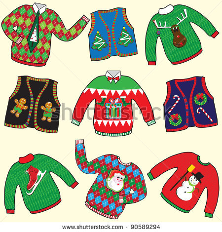 Showing post & media for Cartoon ugly christmas sweater clip art.