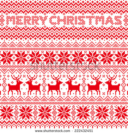Ugly Christmas Sweater Pattern Clip Art. Snowjet.co.