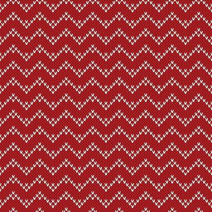 Christmas Sweater Design. Seamless Knitting Pattern Clipart.