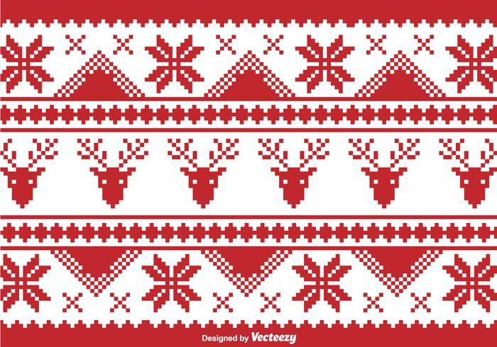 Christmas traditional pixel border.