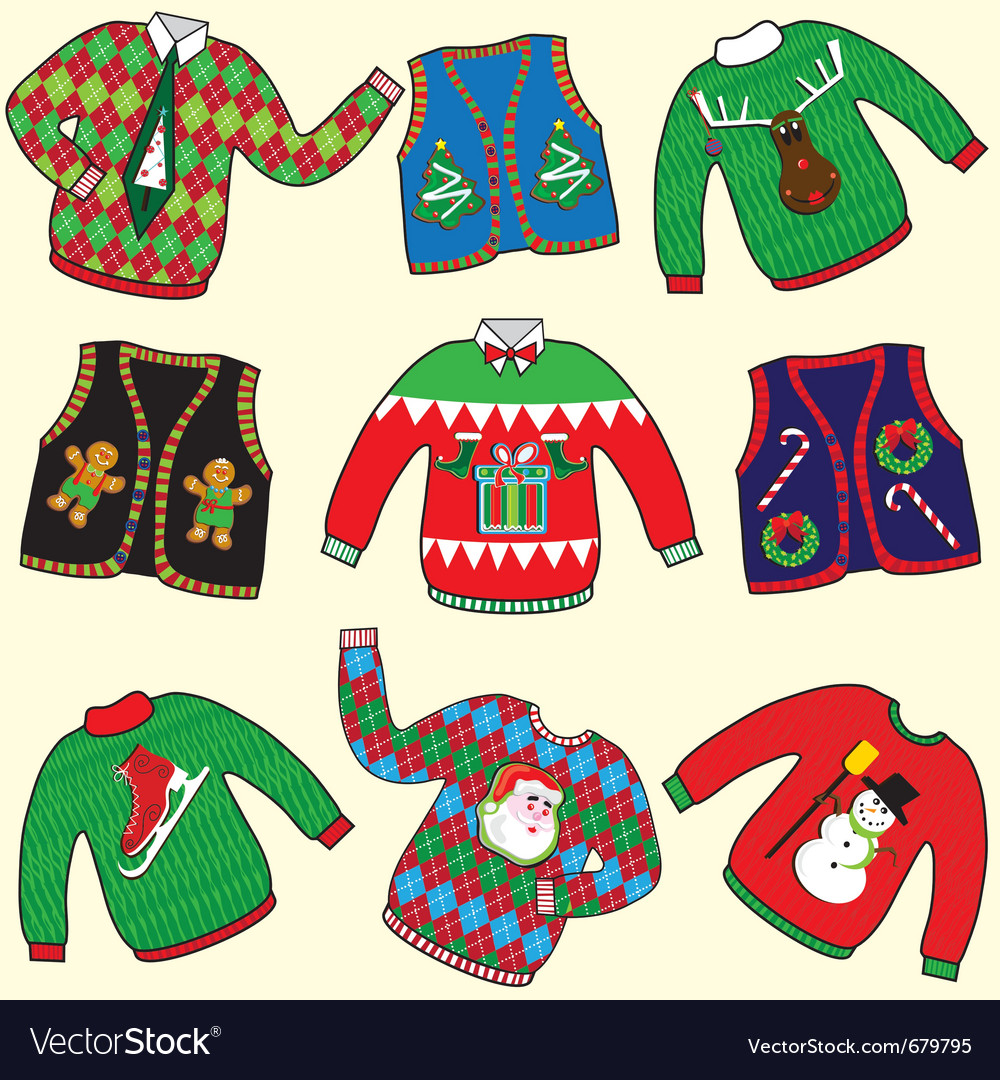 Ugly christmas sweaters.