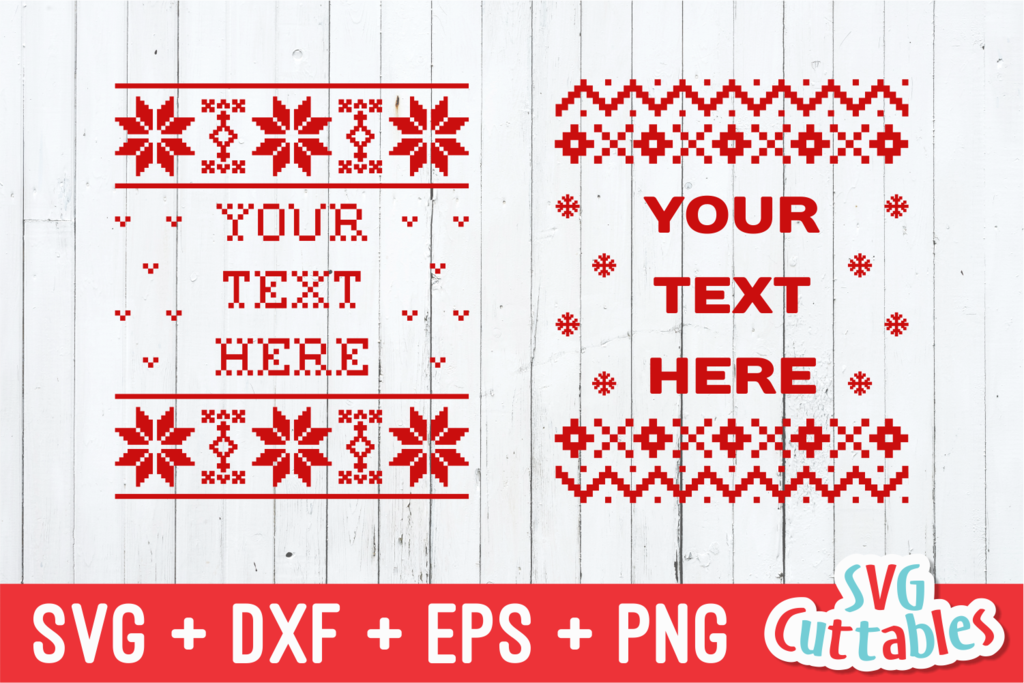 Christmas Sweater, Set of 4 templates plus alphabet ,svg bundle, Ugly  Christmas Sweater.