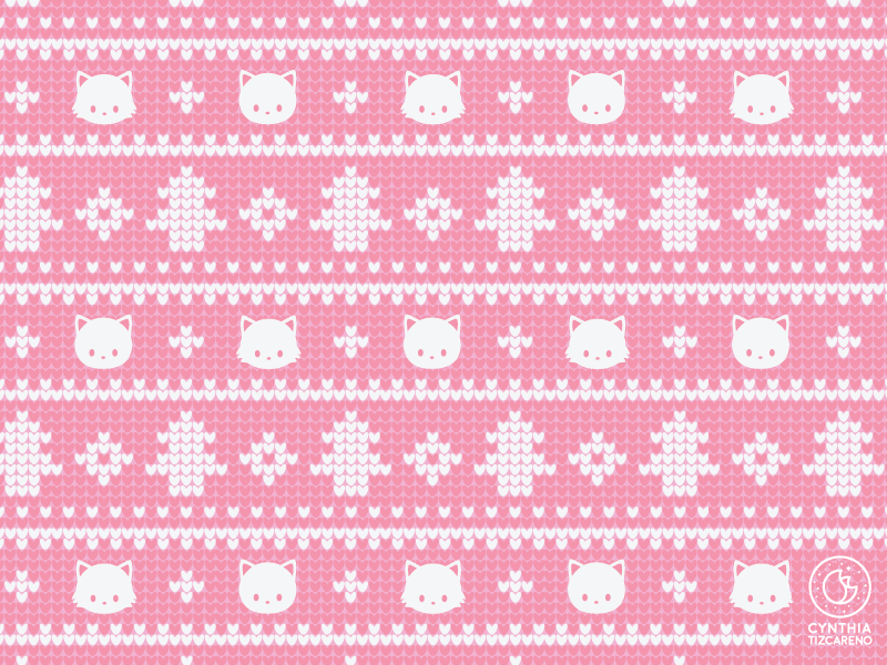 Christmas Sweater Pattern by Cynthia Tizcareno on Dribbble.