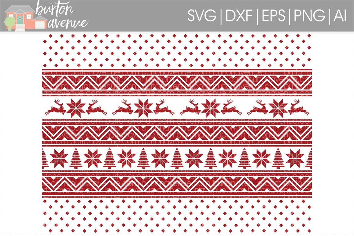 Christmas Sweater Background Cut File.