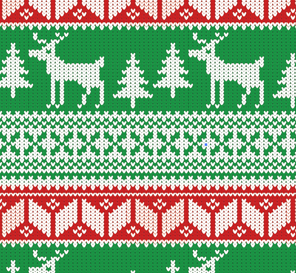 How To Create a Christmas Jumper Pattern in Illustrator.