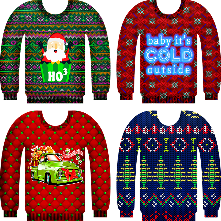 Ugly Christmas Sweater Knitted.