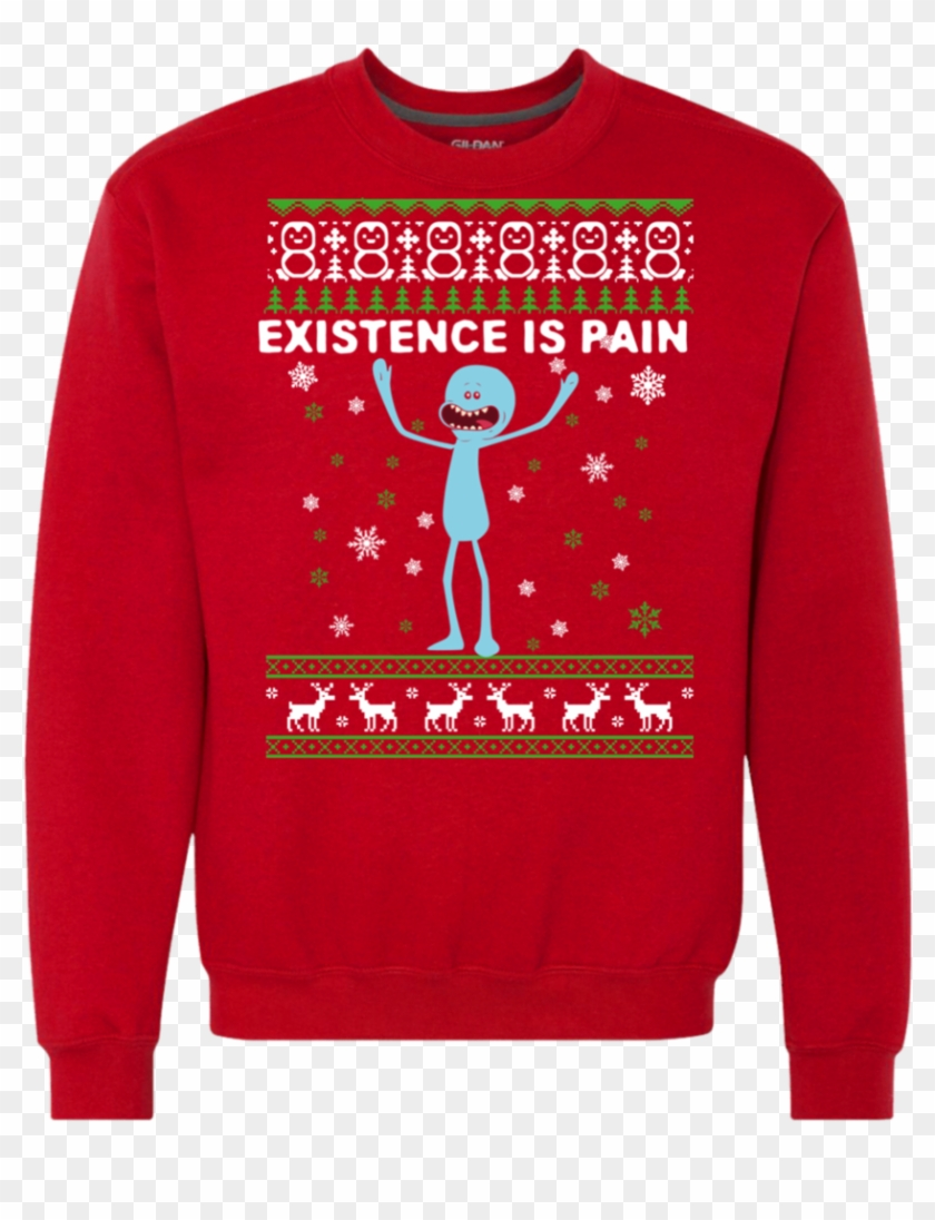 Mr Meeseeks Existence Is Pain Ugly Christmas Sweater, HD Png.