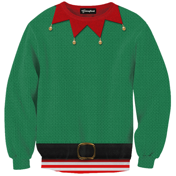 Download Free png Elf Ugly Christmas Sweater As Seen On TV.