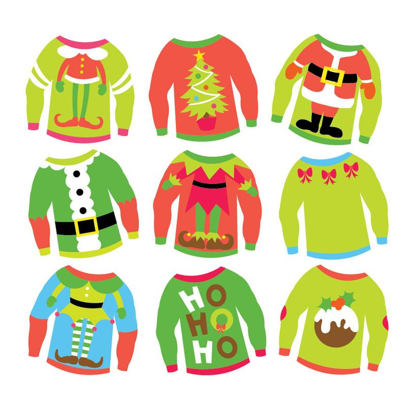 Christmas Ugly Sweaters.