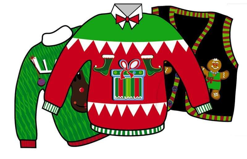 Ugly Christmas Sweaters Clipart.