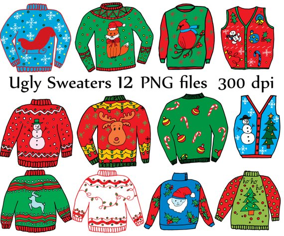 Ugly Sweater ClipArt: